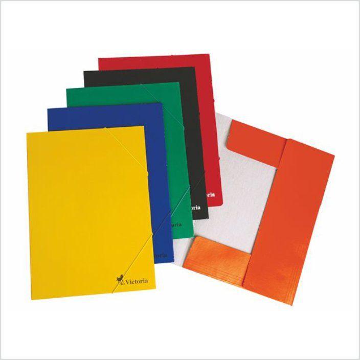 Gumis mappa, karton, A4, VICTORIA, 6 választható szín