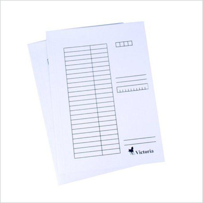 Pólyás dosszié csomag, karton, A4, VICTORIA, fehér, 25db/csomag