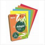 """Másolópapír, színes, A4, 80 g, 5×100 lap, REY """"Adagio"""", intenzív mix"""