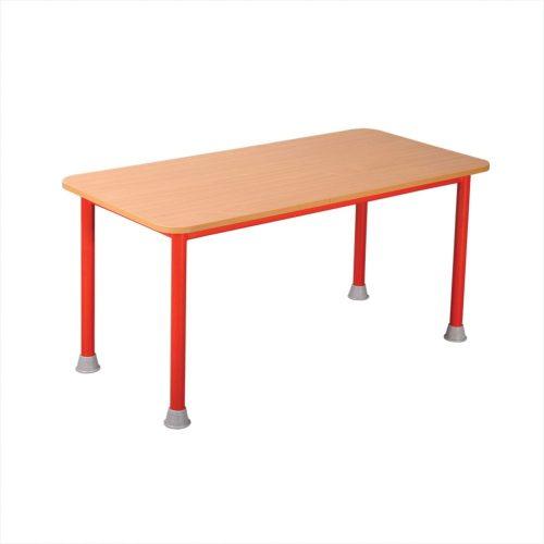 Manó fémvázas téglalap asztal